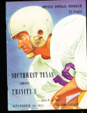1952 9/20 Southwest Texas vs Trninty football program
