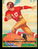 1937 10/15 St. Louis vs South Dakota football program