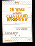 20 years with Cleveland Browns 1966 Yearbook
