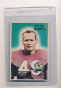 1955 Bowman Tom Landry New York Giants em