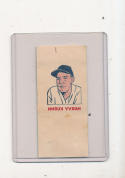 1960 topps Tattoo Baseball card Harvey Kuenn