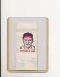 1960 topps Tattoo Baseball card Lou Burdette Milwaukee Braves