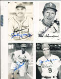 Lou Brock  St. Louis Cardinals Signed Team issue B&W Post Card