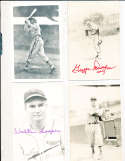 Walker Cooper d91 St. Louis Cardinals Signed Team issue B&W Post Card