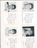 Ray Jablonski d85 St. Louis Cardinals Signed 1954 Team issue Post Card