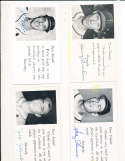 Solly Humus St. Louis Cardinals Signed 1954 Team issue Post Card