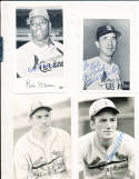 Terry Moore (d95)  St. Louis Cardinals Signed B&W Post Card