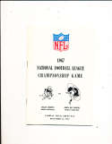 1967 NFL Championship Guide Green bay packers vs Dallas Cowboys em/nm ice bowl