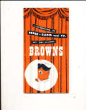 1952 St. Louis Browns Press TV Media Guide em Rare! 1st guide bx g1