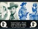 Exhibit Card 1 cent display Western cowboys Judy Canova, elliott