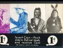 Exhibit Card 1 cent display Western cowboys Blackfoot, brave bear