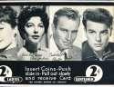 Exhibit Card 2 cent display movie stars Charlton Heston, Gardner