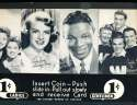 Exhibit Card 1 cent display movie stars Nat King Cole