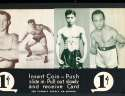 Exhibit Card 1 cent display 4 Wrestling cards