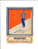 1935 Wheaties card Betty Fairfield skier with panel