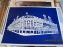Ebbets Field Brooklyn Dodgers Stadium; blue b3