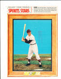 1960 Post cereal card Al Kaline Detroit Tigers with tab em
