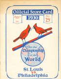 1930 Cardinals vs Athletics World Series Program