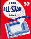 1950 all star baseball game program em unscored chicago