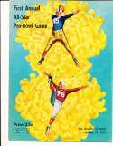 1951 1/14 First Annual All Star Pro Bowl Football Program em