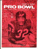1964 1/15 14th annual All Star Pro Bowl Football Program & press notes