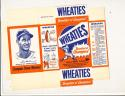 1951 Wheaties Set of 6 Cereal Boxes Panels Mikan Williams Musial Snead