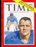 Sam Huff Giants 1959 no label newsstand  Signed Time Magazine psa/dna