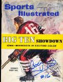 1960 Bobby Hull Blackhawks newsstand Sports illustrated psa/dna