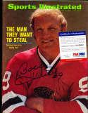 1972 Bobby Hull Blackhawks  newsstand Sports illustrated psa/dna