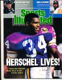 1989 Herschel Walker Vikings newsstand Sports illustrated psa/dna