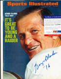 1971 George Blanda Raiders newsstand Sports illustrated psa/dna