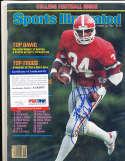 1981 Herschel Walker Georgia newsstand Sports illustrated psa/dna