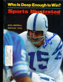 """1968 Earl Morrall """"15"""" Colts Signed Sports illustrated psa/dna"""