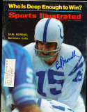 1968 Earl Morrall Baltimore Colts Sports illustrated psa/dna