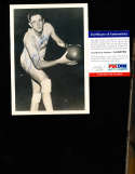 George Mikan Lakers Signed 5x7 b&w psa/dna