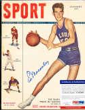 1949 January Ed Macauley St. Louis NL Sport Magazine psa/dna