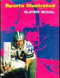 1971 Craig Morton Cowboys Superbowl Sports illustrated psa/dna