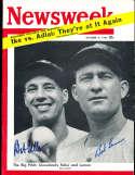 1954 10/4 Bob Feller & Bob Lemon Newsweek nl psa/dna