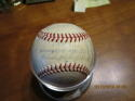 1954 Cleveland Indians Team Signed Baseball 30 signatures  American League Champs!