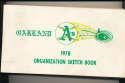 1978 Oakland A's Athletics Organization Sketch book em