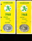 1968 Oakland A's  Baseball Press Media Guide hole punch