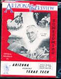 1956 10/27 Arizona vs Texas Tech  football Program