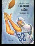 1964 9/26 California vs Illinois  football Program