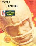 1969 11/22 Rice vs TCU  football Program