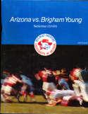 1976 9/25 Arizona vs BYU  football Program