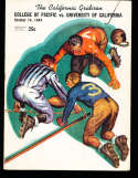 1944 10/14  Pacific vs California  football Program