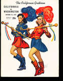 1944 10/28  Washington vs California  football Program