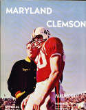 1962 11/17 Maryland vs Clemson football Program