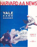 1933 6/21 Harvard vs Yale baseball Program