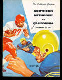 1957 9/21 SMU vs California  football Program